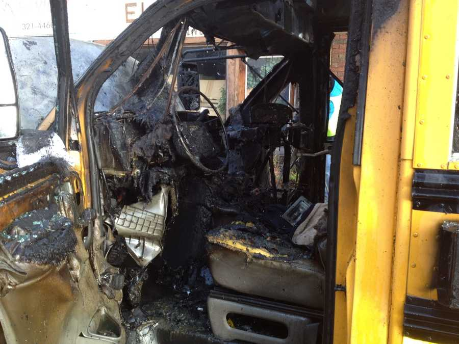 Fire ripped through a school bus Friday morning on Pittsburgh's North Side. The driver smelled smoke and got out safely while the van was idling near the corner of East Ohio Street and East Street. No children were on board.