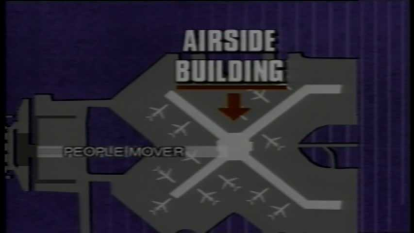 One of the original schematics of the interior of the Pittsburgh International Airport in 1992