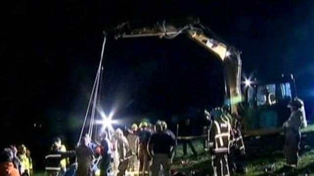 Crews work for hours to rescue calf from mine shaft