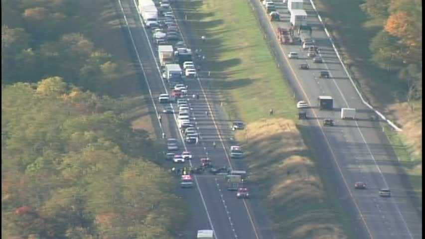 A violent collision caused multiple deaths and shut down one side of Interstate 79 near the Greene-Washington county line.