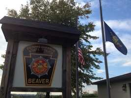 Flags have been lowered at Pennsylvania State Police barracks in Beaver