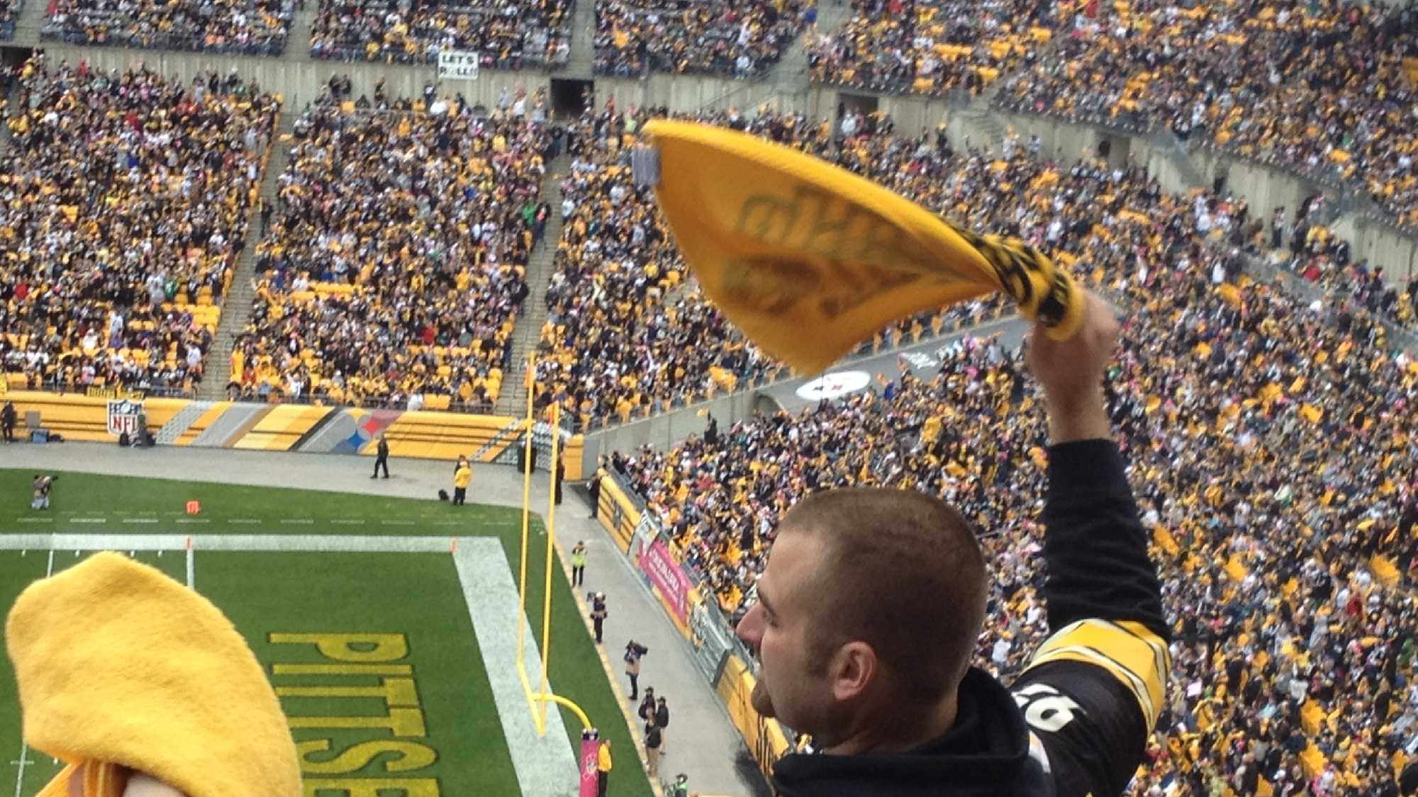 Steelers fans at Heinz Field