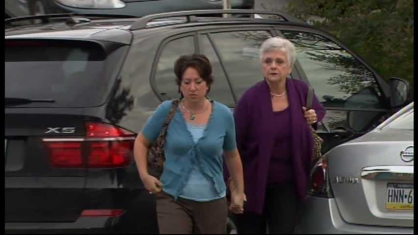 Dottie Sandusky arrives at the Centre County Courthouse for her husband's sentencing.