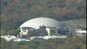"""The """"Golden Dome"""" arena on the Community College of Beaver County campus in Center Township."""