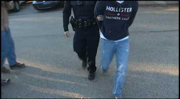 The suspect's parents brought him to the Zone 2 police station for an interview.