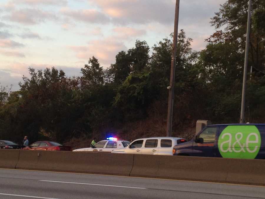 It happened in the eastbound lanes of the Parkway West near Rosslyn Farms.
