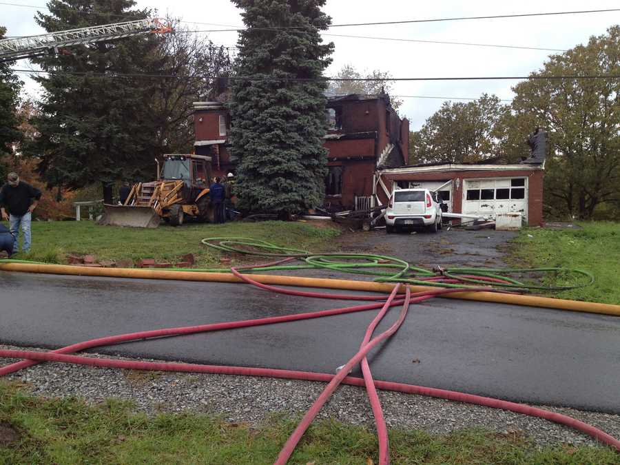 Two bodies were found in a house fire in Industry, Beaver County.
