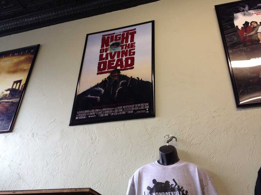 """Night of the Living Dead"" poster at House of the Dead in Lawrenceville."