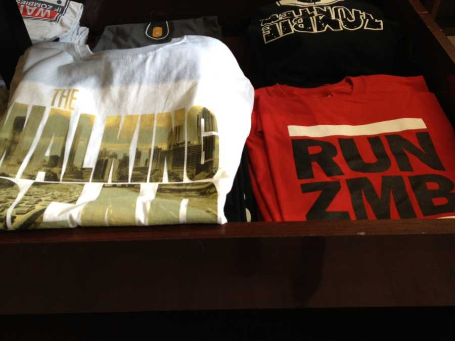 RUN ZMB shirts are hot items at the shop on Butler Street in Lawrenceville.