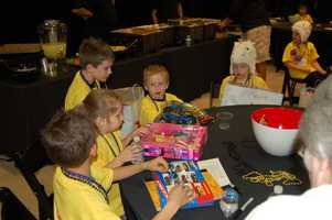 PITTSBURGH, PA - The children checking out some special gifts of toys.