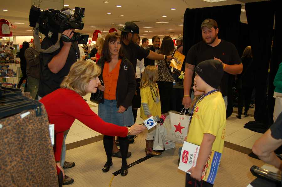 PITTSBURGH, PA - The children get a chance to be interviewed by WTAE Action News' Sally Wiggin.