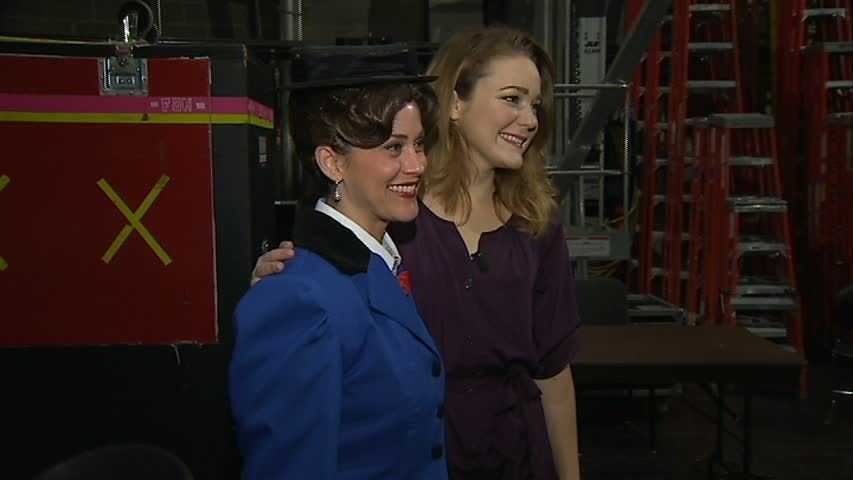 Michelle Wright and actress Madeline Trumble, who stars as Mary Poppins in the touring musical