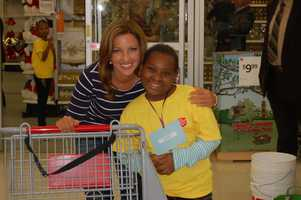 Meteorologist Ashley Dougherty and her little shopping buddy
