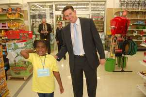 Action Sports' John Meyer and his little shopping buddy