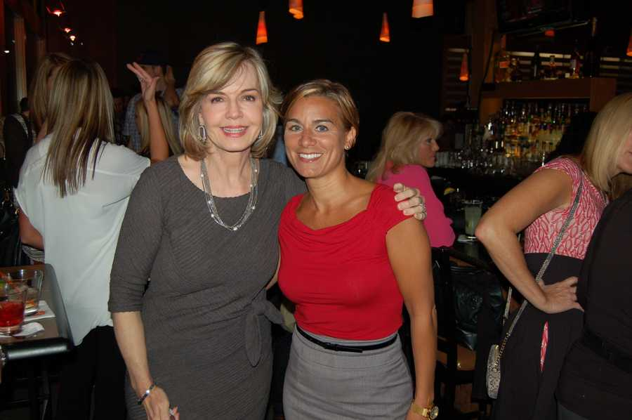 Before the dinner service:  WTAE Action News' Sally Wiggin and Marcie Cipriani