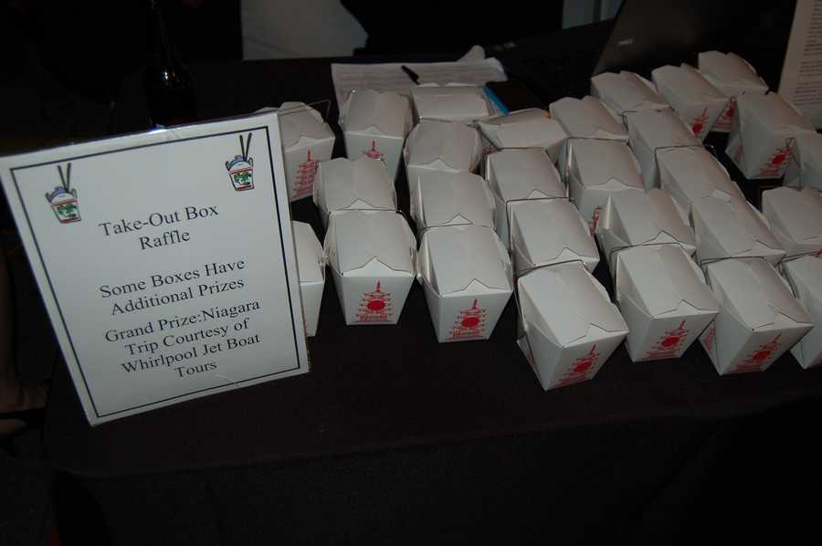 Some of the auction and raffle prizes