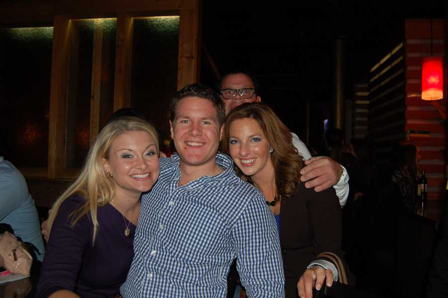 Some of the WTAE Action News' crew celebrating a great dinner service... Ashlie Hardway, Justin Rose, and Ashely DOugherty