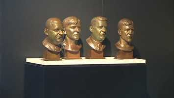 From left to right: Bert Bell, John (Blood) McNally, Art Rooney Sr. and Bill Dudley
