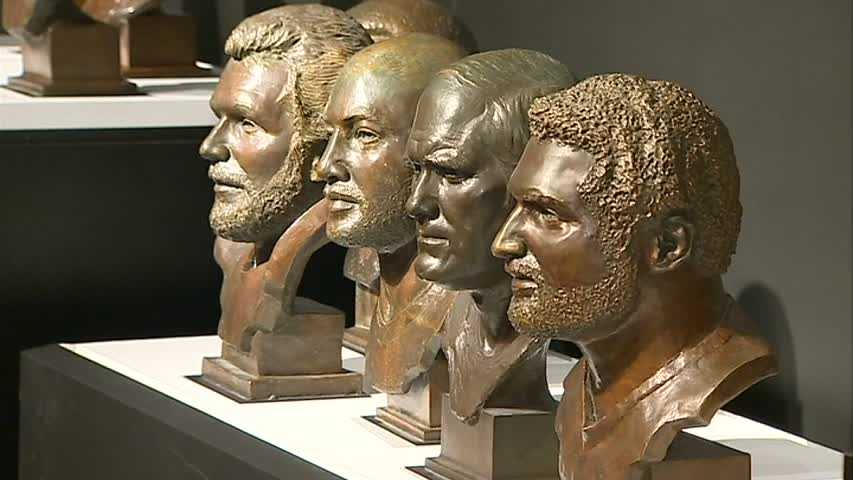 From left to right: Jack Ham, Mel Blount, Terry Bradshaw and Franco Harris