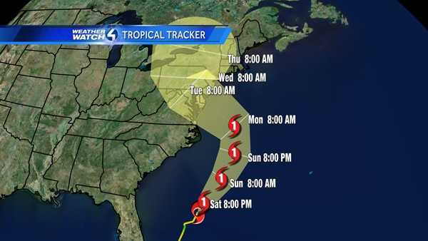 The latest track from the National Hurricane Center