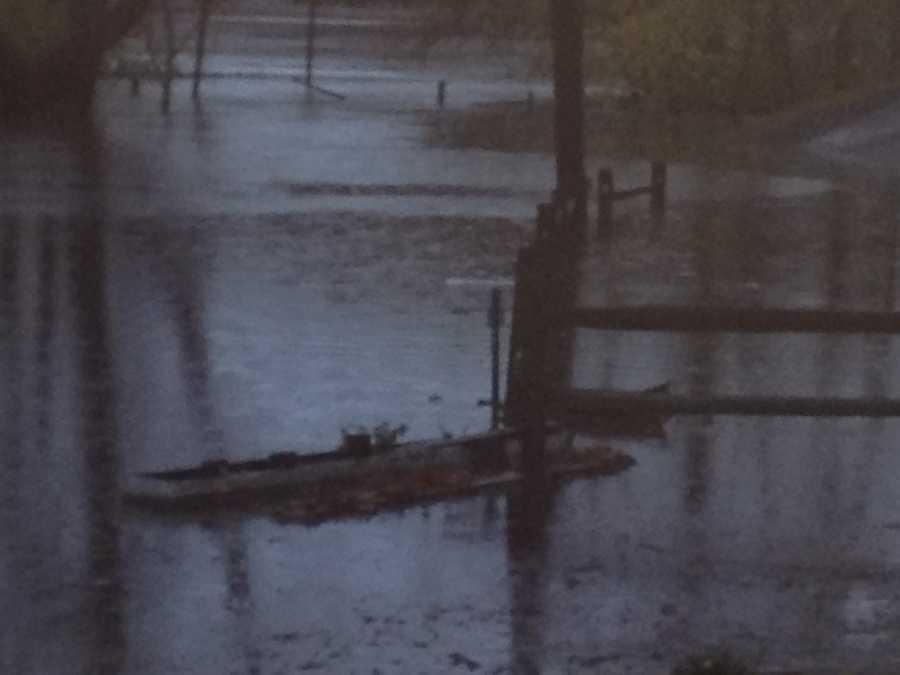 Flooding on Avenue A in Latrobe