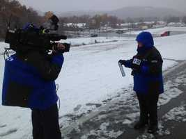 WTAE's Bob Mayo found heavy snowfall on Interstate 68 in West Virginia, just past Exit 10, where the interstate was closed because of the weather.