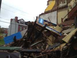 Christian said two men began tearing down the house last week but hadn't finished the job before the collapse happened.