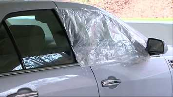 Nearly 20 parked vehicles were broken into and damaged at Compunetix in Monroeville.