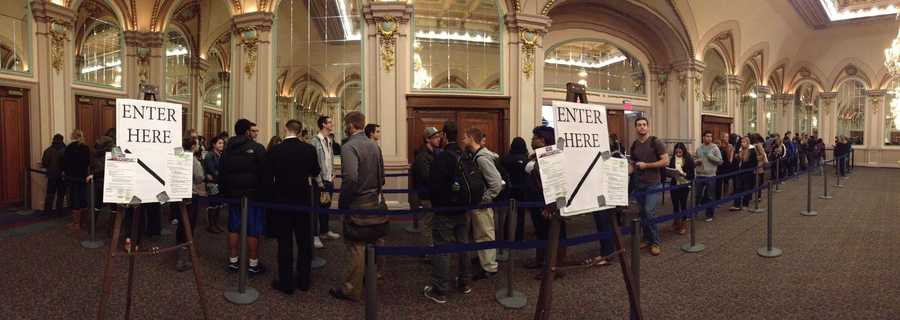 WTAE's Bob Mayo found strong voter turnout at the University of Pittsburgh campus in Oakland.
