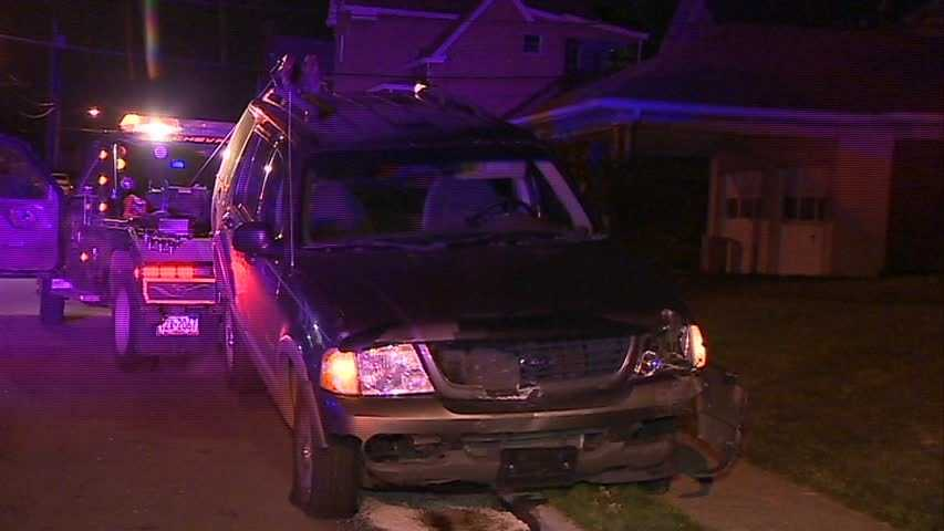 At least two parked vehicles were damaged by a hit-and-run driver in Crafton late Wednesday night.