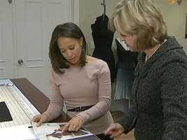 The mother of three gave Channel 4 Action News anchor Sally Wiggin a tour of her fashion studio in East Liberty on Thursday.