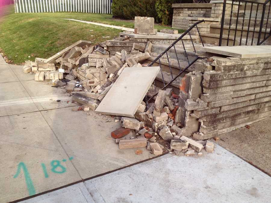 The car eventually crashed into the front steps of a house on Stanton Avenue.