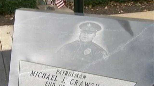 Officer Crawshaw memorial