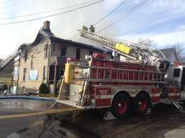 Carney's Corner Tavern fire in Delmont