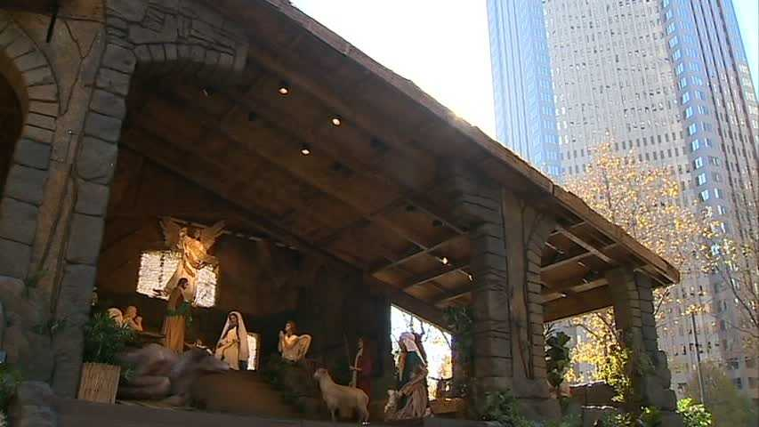 The Nativity creche is a tradition outside the U.S. Steel Tower on Grant Street.