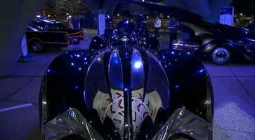 "This version of the Batmobile was driven by George Clooney in ""Batman & Robin"" (1997)"