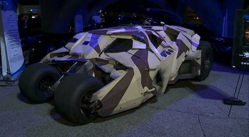 "The camouflage version of the Tumbler seen in ""Batman Begins"" (2005) and ""The Dark Knight Rises"" (2012)"