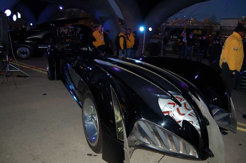 The Batmobile from the various Batman movies made an appearance at the game.