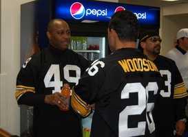 #43 Dwayne Woodruff and #26 Rod Woodson