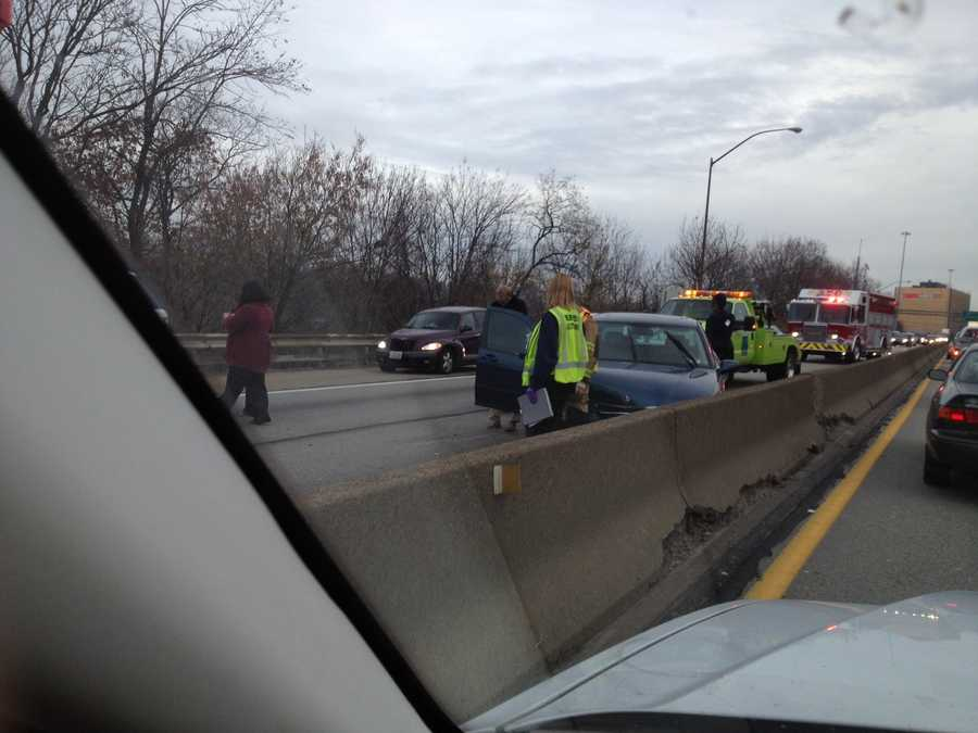 A crash near Green Tree tied up Tuesday morning rush-hour traffic on the Parkway West (Interstate 376).