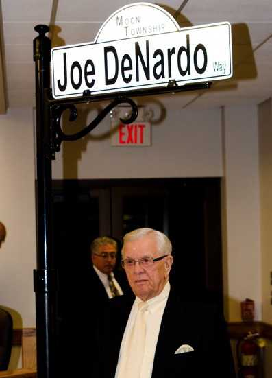 A street in Moon Township was named for Joe DeNardo in 2012.