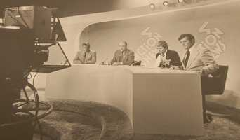 Joe DeNardo, Paul Long, Don Cannon, and Bill Hillgrove on set from 1978