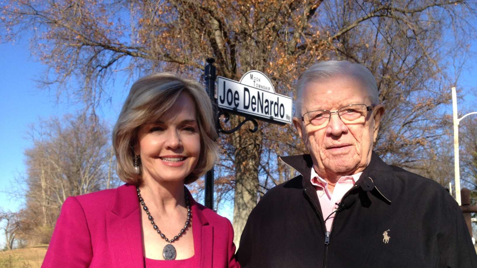 Joe DeNardo Way in Moon Township is named for the former WTAE chief meteorologist.