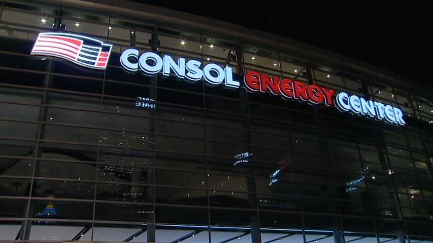 The Consol Energy Center at night