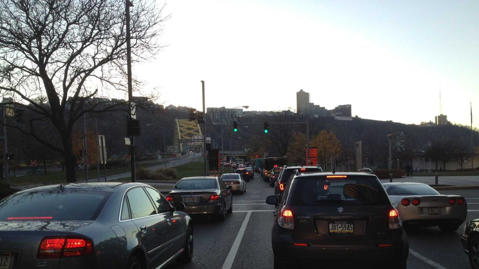 Downtown Pittsburgh traffic