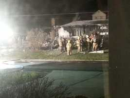 Photos from an early morning fire on Shady Ave in Butler County. The fire started in a garage and spread quickly to the rest of the home. Everyone made it out safely from the fire. (Photos courtesy of Stephanie Davey)