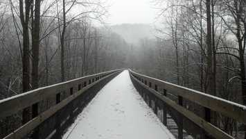Snow at Ohiopyle State Park from Ranger John Kaminsky