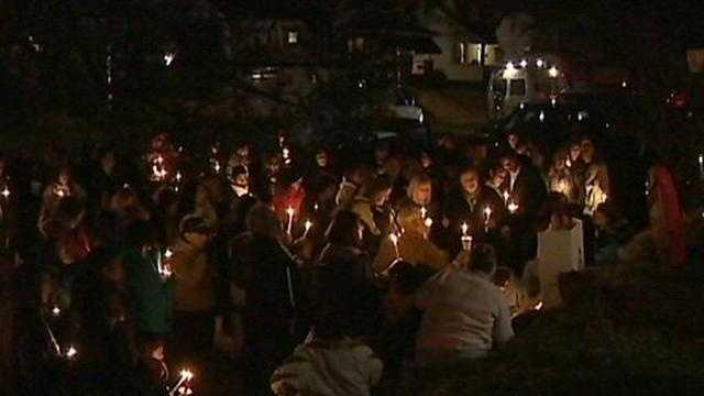 Candlelight vigil held for young boy killed by pickup truck