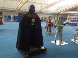 """Darth Vader and Boba Fett from the """"Star Wars"""" series."""