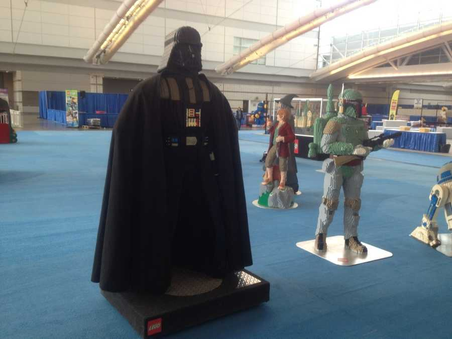 "Darth Vader and Boba Fett from the ""Star Wars"" series."